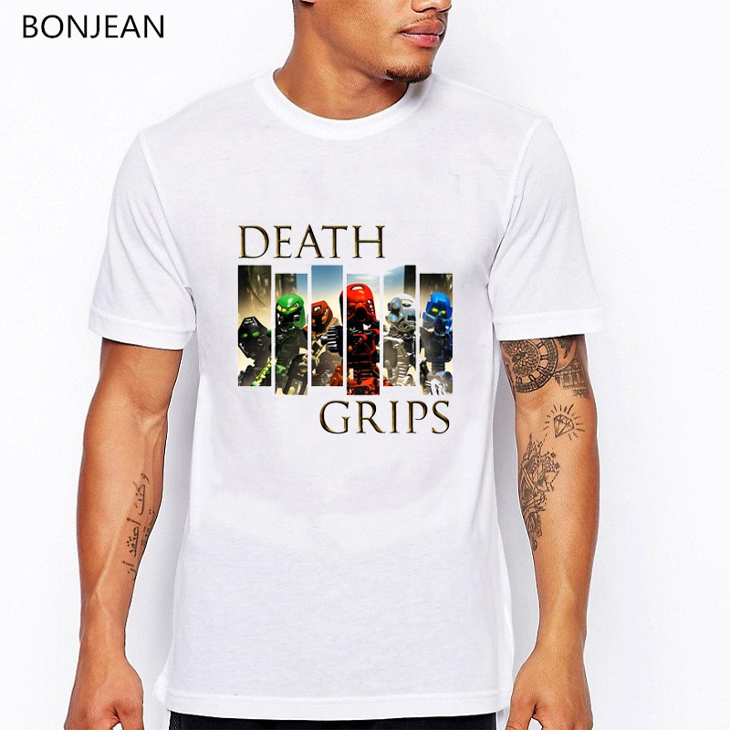 Мужская футболка с принтом «Death Grips», футболка мата с принтом «Bionicle Toa», camisetas hombre, летние топы, забавная футболка для мужчин, tumblr, футболка, homme