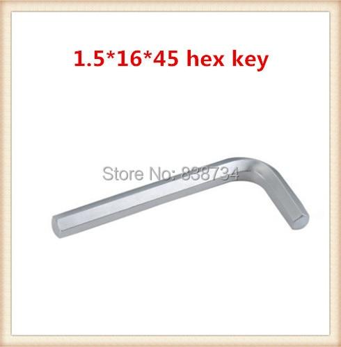 Acero al carbono niquelado 1.5mm * 45 hexagonal llave Allen (100 unids/lote)