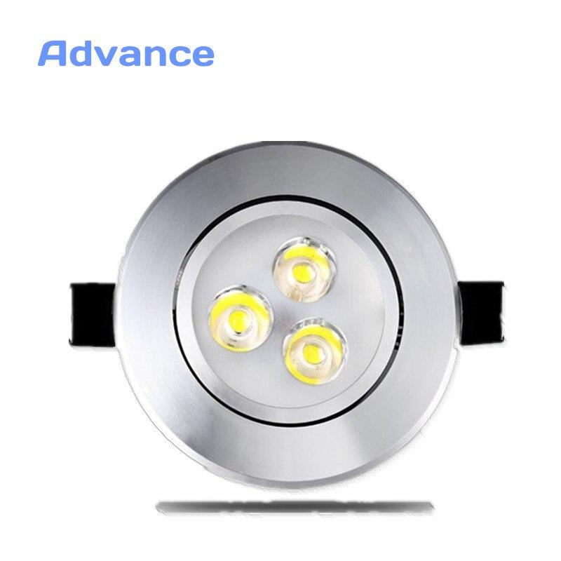 Lámpara empotrada de plata Ultra preciosa LED para pared de gabinete AC220V 220V 3W lámpara de techo para decoración de foco empotrable LED para el hogar