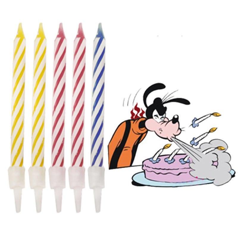 Vela con reencendido de truco de magia vela de cumpleaños para niños para pastel vela decoración de fiesta de cumpleaños regalo divertida regalo de broma paquetes especiales 10