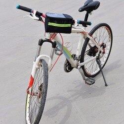 20 Polegada grande poliéster bicicleta cesta dianteira durável tubo à prova dwaterproof água guiador saco acessórios do esporte ao ar livre 2018 quente
