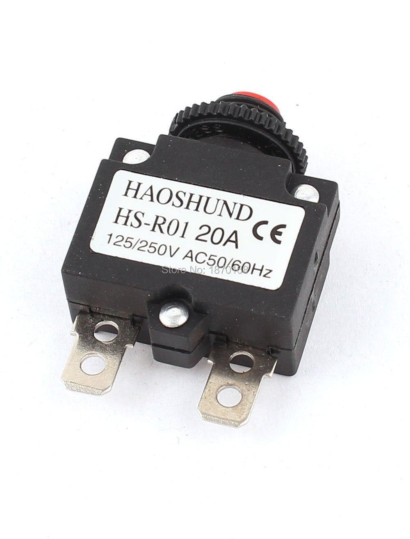 HS R01 20A AC 125/250 V 20A compresor de aire interruptor protector de sobrecarga