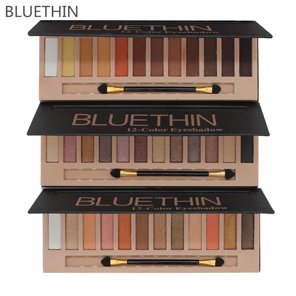 professional BLUETHIN Pro 12 Colors Shimmer Matte Makeup Palette Long Lasting Eye Shadow Natural make up eyeshadow concealer
