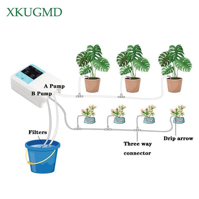 Dispositivo de riego automático de jardín inteligente para el hogar, carga Solar, riego de plantas en maceta, accesorios de sistema de distribución de bomba de agua
