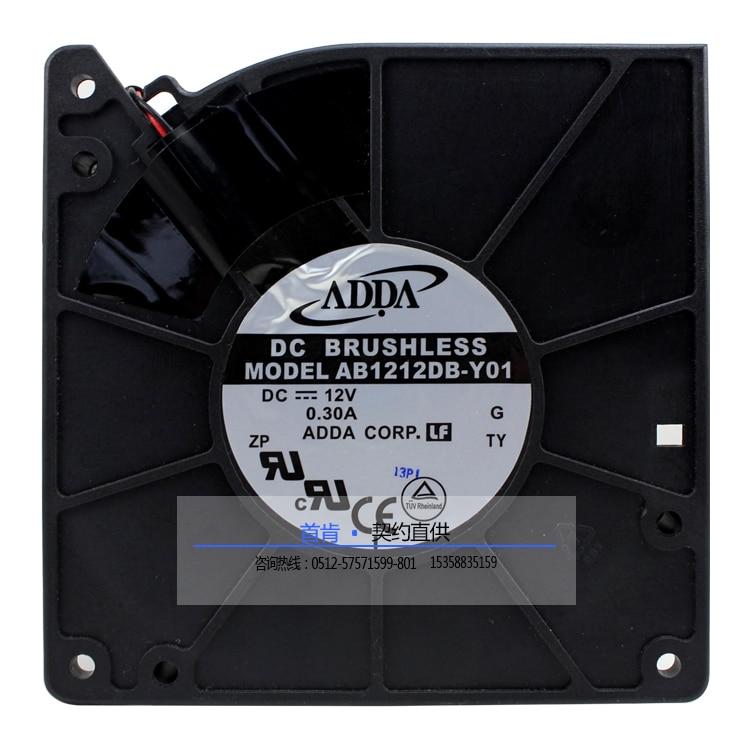 جديد ADDA AB1212DB-Y01 12032 DC12V 0.30A التبريد مروحة