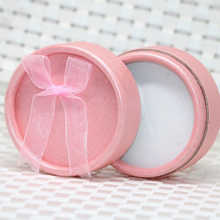 Новые модные розовые подарочные коробки для ювелирных изделий, изысканные упаковочные коробки для сережек, колец, подвесных бусин, аксессу...