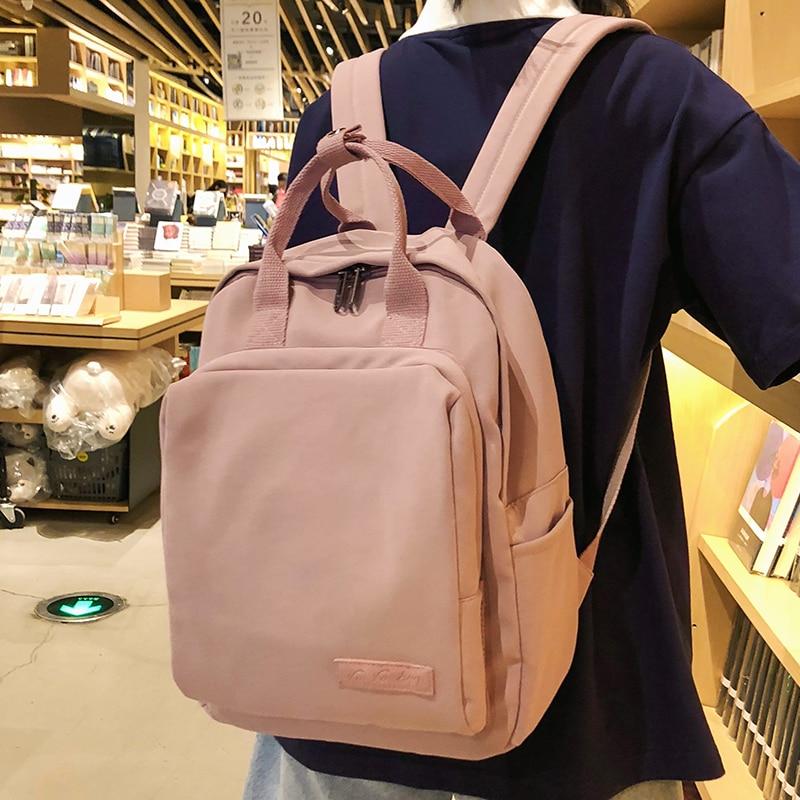 Mochila Linda a la moda, bolso escolar para mujer, bolsos escolares para adolescentes, mochila de nailon para mujer, bolso de lujo para estudiantes, harajuku