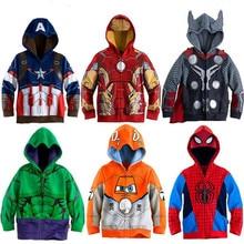 2019 sudaderas con capucha para niños The Avengers Endgame Marvel superhéroe Capitán América Iron Man Thor Hulk chica sudadera niños camisetas