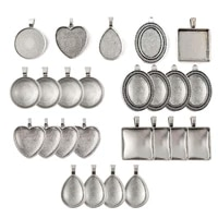 40 pieces 25mm ancient silver bottom add glass diy alloy jewelry accessories blank bezel set photo pendant jewelry accessories
