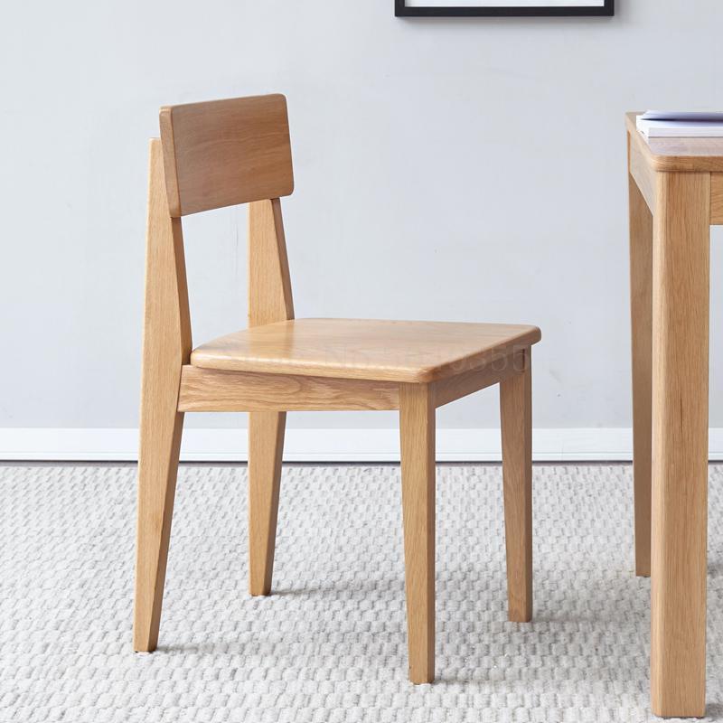 Обеденный стул из чистого массива дерева дубовый современный минималистичный