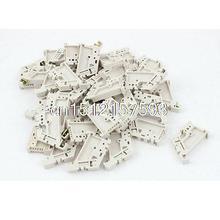 Vis DIN Rail de 50 pièces 35mm   Clips de montage pour tampons, bornier fixe
