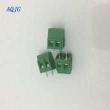 20 adet PCB vida Terminal bloğu bağlayıcı KF128-2P pitch 5.0MM 3PIN yeşil 5mm KF128 2Pins LZ/KF128-2.54/3.5/3.81/5.0/5.08 /AQJG