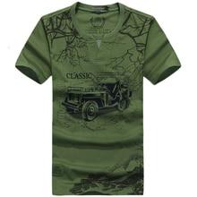 Amy vert et kaki Vintage t-shirt hommes col en V imprimé 85% coton t-shirt modèle parfait