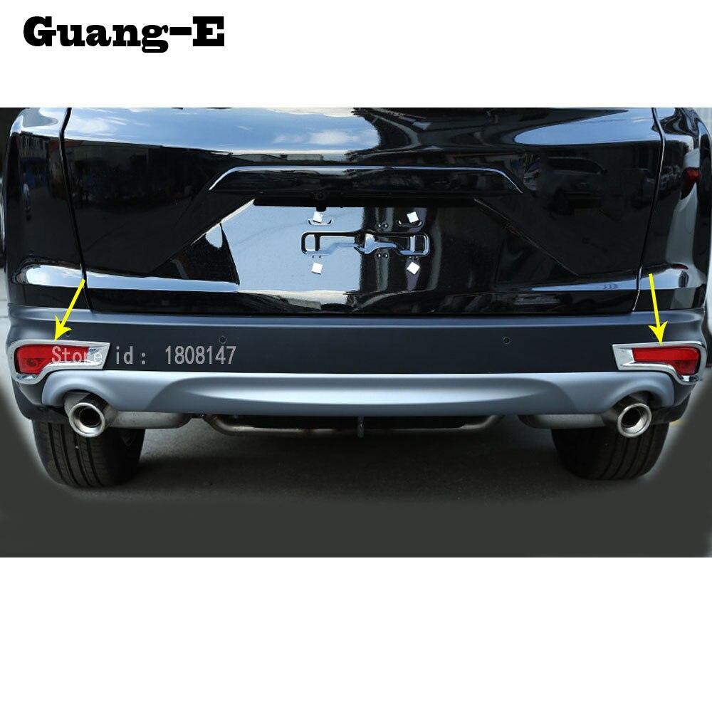 Para Honda CRV CR-V 2017 2018 2019 2020 ABS cromado cubierta trim back tail LUZ ANTINIEBLA TRASERA Marco de palos con lámpara partes 2 uds