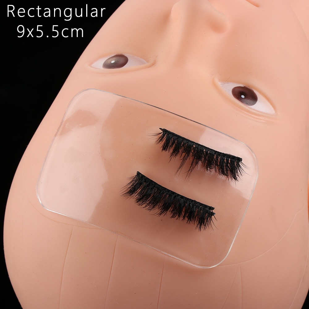 1 pieza de plataforma de extensión de injerto de pestaña de silicona pegamento adhesivo almohadilla soporte de pestañas aplicación de soporte accesorios de pestañas herramienta de maquillaje