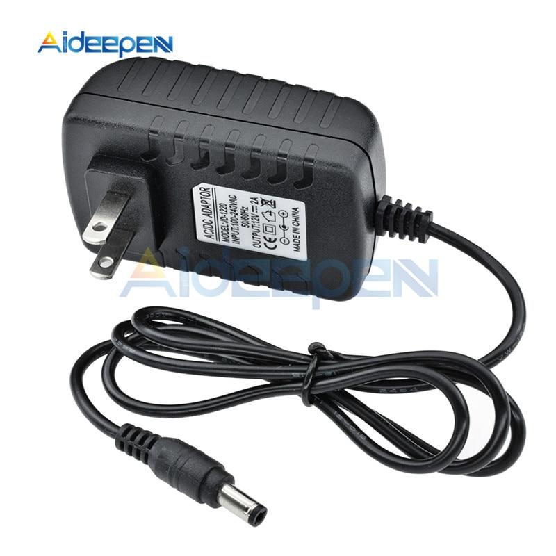 Adaptador de enchufe de EUA para UE AC110V 220V a DC 12V 2A 1.8A 5,5*2,1mm 1 Uds