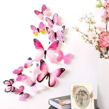 Estilo translúcido borboletas bonitas adesivo de parede para meninas & mulher quarto, portas e janelas, moldura de fotos decoração de casa interior