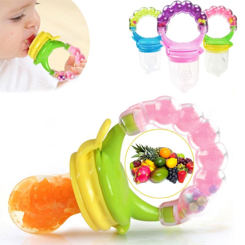 1Pcs Fresh Food Nibbler Baby Pacifiers Feeder Kids Fruit Feeder Nipples Feeding Safe Baby Supplies N