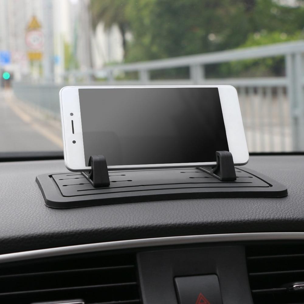 Adorno de coche antideslizante DIY distancia ajustable teléfono móvil Sillcone titular decoración antideslizante Pad Dashboard para teléfono móvil GPS