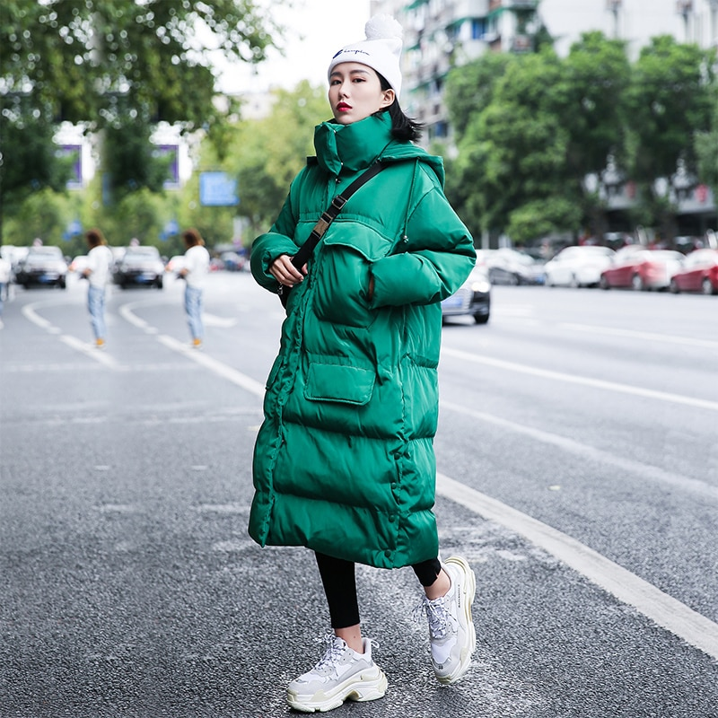 Женская Длинная зимняя хлопковая парка с капюшоном модель MY62 2020 Женские парки   