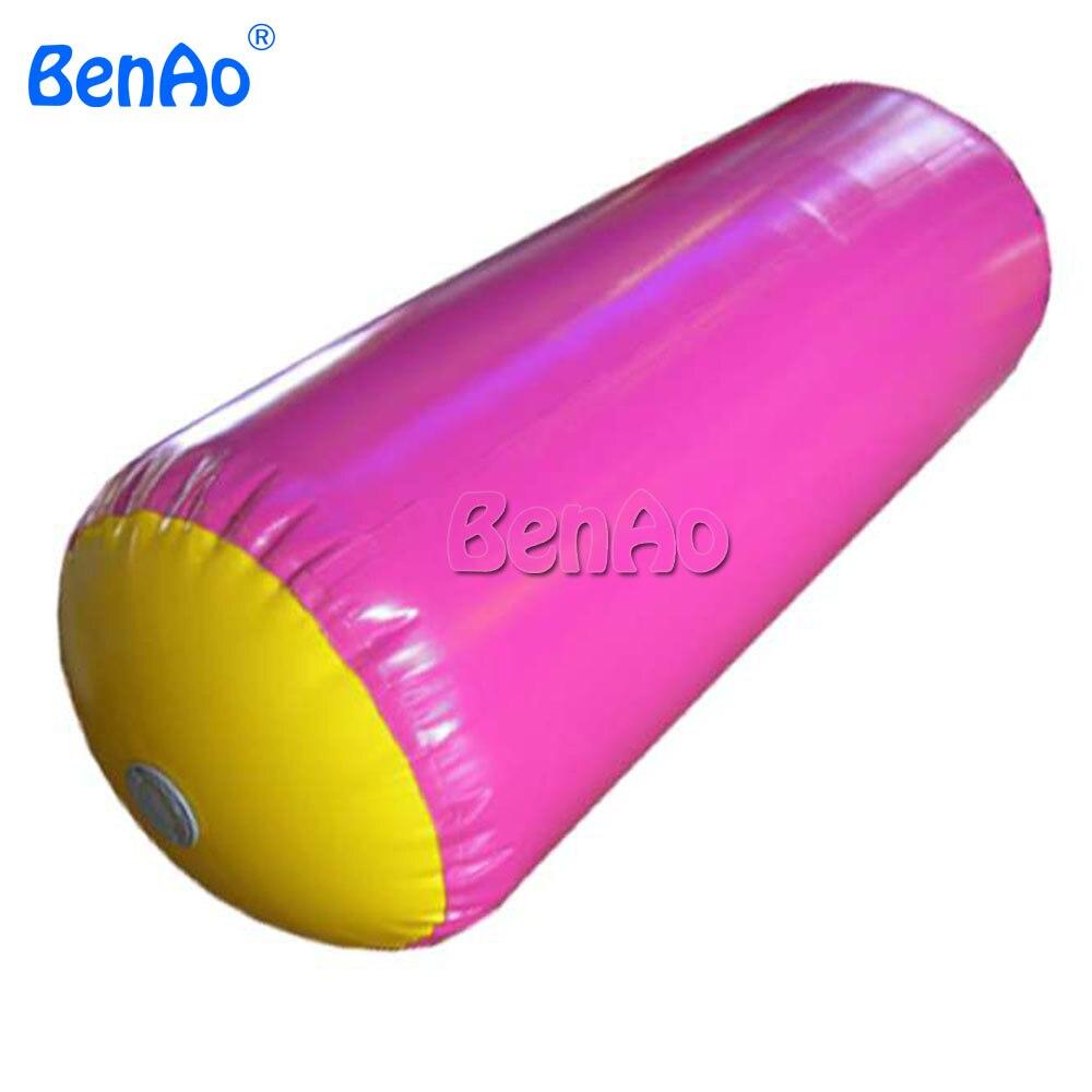 GA108 BENAO Бесплатная доставка надувной ролик для гимнастики надувной ролик надувной воздушный баррель/надувной валик из ПВХ