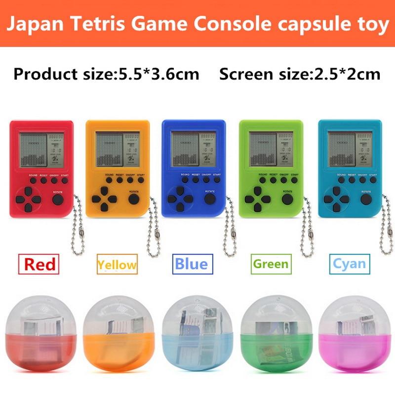 Consola de juegos Tetris de gran calidad, juguete con forma de huevo retorcido, juguetes de gashapon, regalos de Navidad, consola de juegos incorporada en 26 varietie