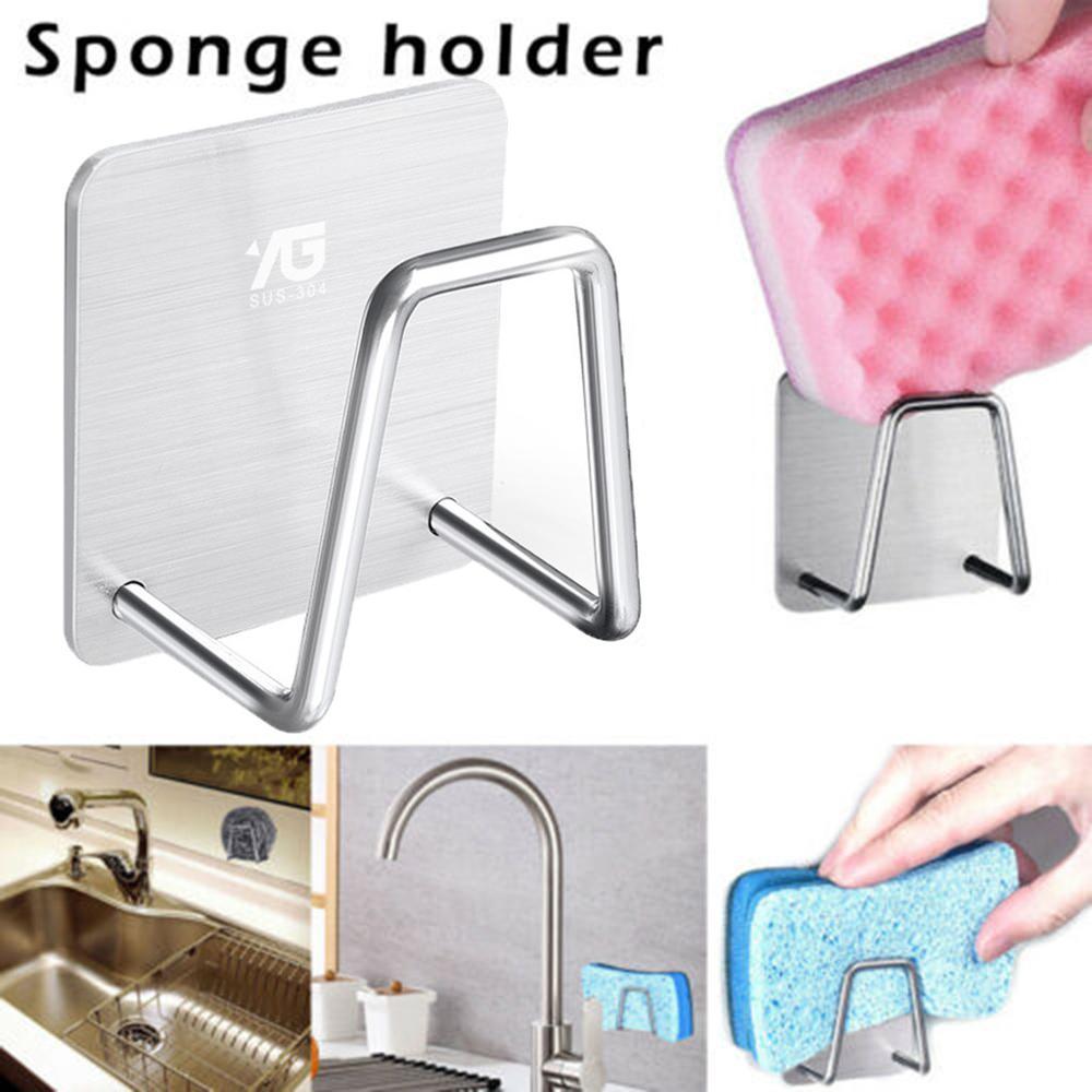 Кухонный кран из нержавеющей стали держатель для губки Adjustbale раковина Caddy Органайзер мыльная щетка для мытья посуды сушилка для хранения 5pz