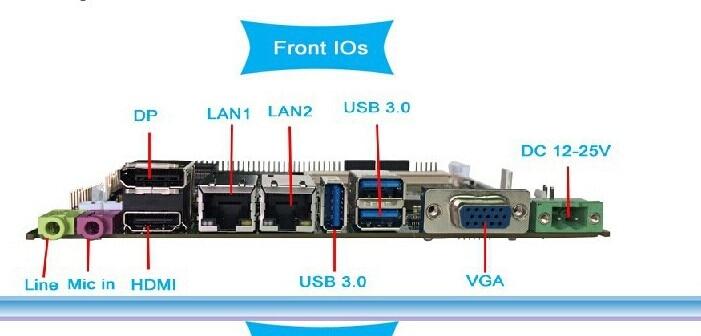 Mini placa base itx sin ventilador de alto rendimiento con CPU I5 2430M y RAM (PCM3-QM77)