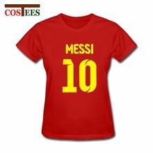 Lionel Messi chemise camiseta barcelone camisa T-shirt femmes manches courtes Messi T-shirt Messi fans T-shirt haut argentine t-shirts