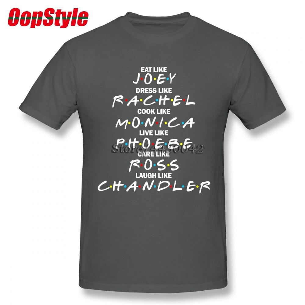 Serie de Televisión Friends Camiseta de algodón de talla grande para hombre de Joey Rachel, Camiseta para equipo 4XL 5XL 6XL