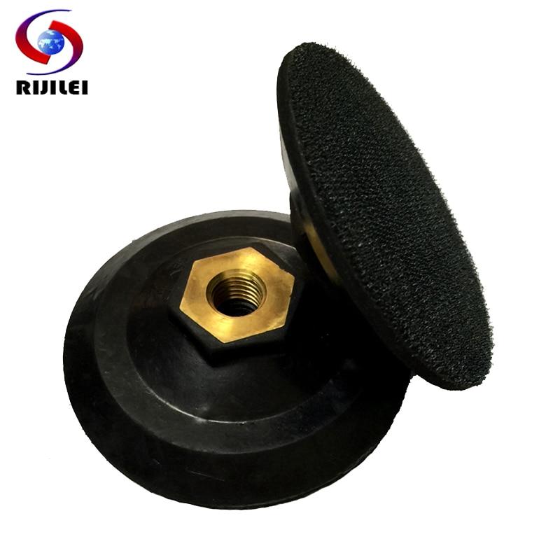 RIJILEI 4inch Rubber backer pads 100mm holder pads back up for polishing pads Bonnets for Polisher Angle Grinder 4JTB-M14