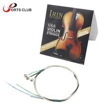 IRIN V68 Universelle Full Set (E-A-D-G) violine String Geige Saiten Stahl Kern Nickel-silber Wunde für 4/4 3/4 1/2 1/4 Geigen