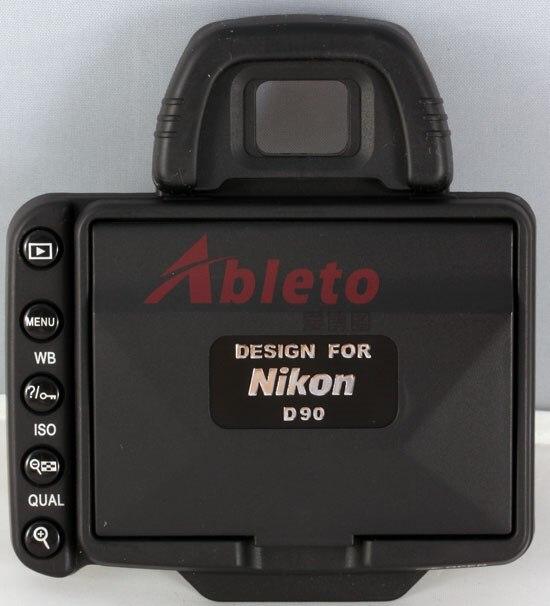 Camera  LCD Hood Screen Protector and Sun Shade Shield Cover Shade for Nikon Camera D90  Free Shipping