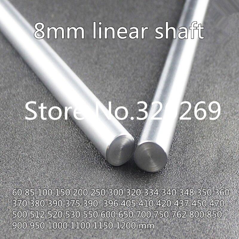 6 uds 8mm 360 370 375 380 390 396 400 mm riel de eje lineal cromado suave varilla óptica endurecida eje 3d impresora cnc