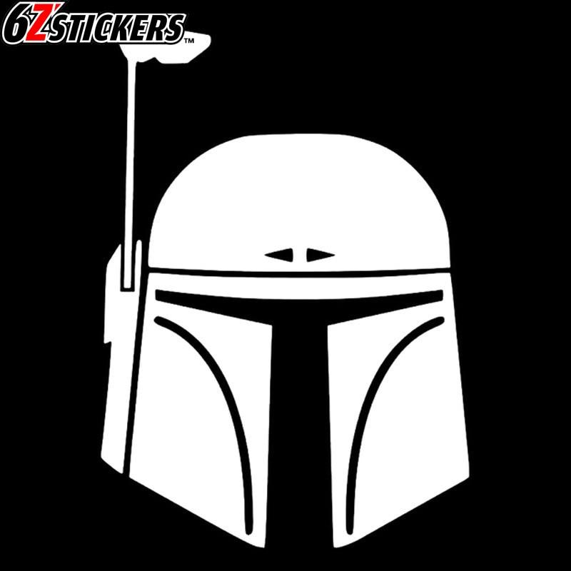 sixsub 1PCS funny Helmet Star Wars 40X30cm Fash Car Stickers Motorcycle decals Body Window Stickers Car Styling