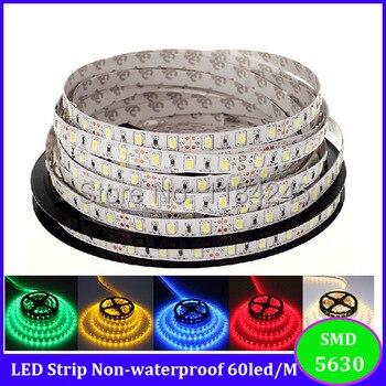 ¡Mayor brillo! Tira de luz LED de 5630 5 m iluminación no resistente al agua 300 leds 60 leds/m blanco/cálido/ coldwhite/Rojo/verde/azul libre