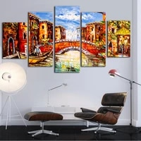the towns canvas paintings 5 piece wall art oil printing style design picture for living room classical european prints no frame