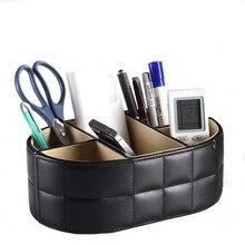 5-Slot PU cuir stylo porte-stylos boîtier de télécommande boîte carte de visite Stand bureau organisateur bureau Table