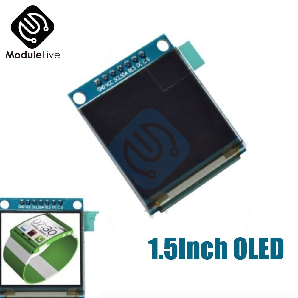1,5 дюйма 1,5 дюйма 7PIN полноцветный oled-модуль дисплей экран SSD1351 привод IC 128(RGB)* 128 SPI интерфейс для 51 STM32 Arduino