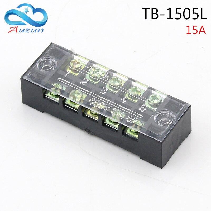 Conector de cable ignífugo con conexión 15A de corriente de descarga de terminal de conexión TB-1505L 5P bit fijo