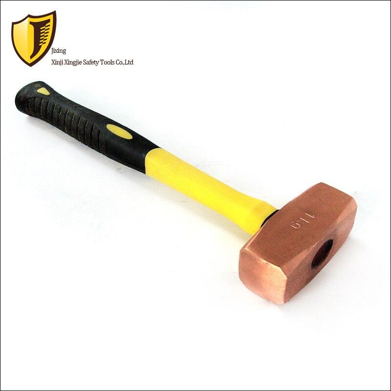 3 kg, martillo octagonal alemán de cobre rojo, martillo a prueba de explosiones