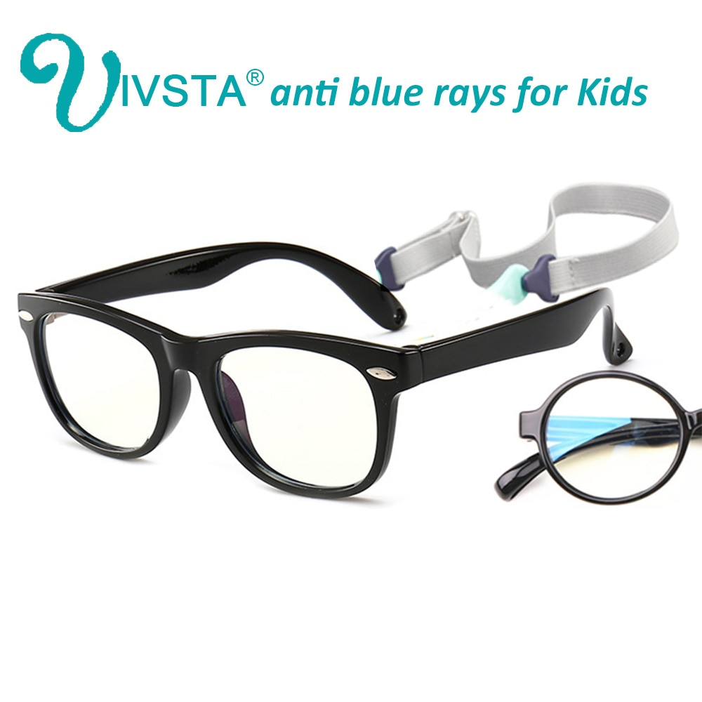 IVSTA Anti Blue Rays Computer Glasses Boys anti radiation UV400 Kids Optical Frame Gaming Myopia Kids Flexible Silicone 2140