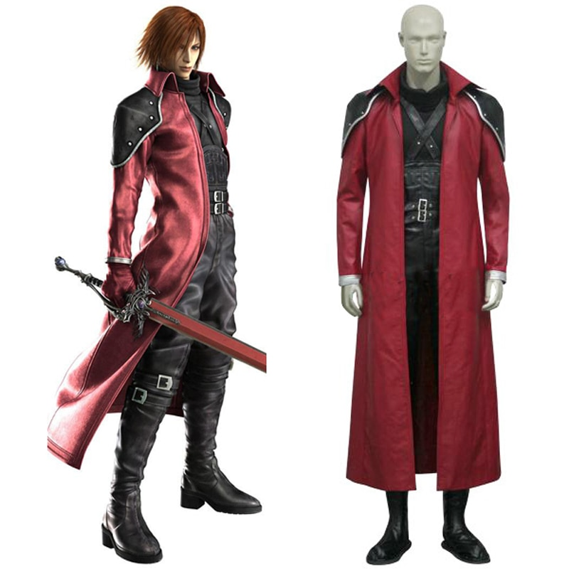 Final Fantasy VII Genesis Rhapsodos Deluxe Cosplay Uniform Suit Full Set Men's Halloween Costumes Custom-made Free Shipping