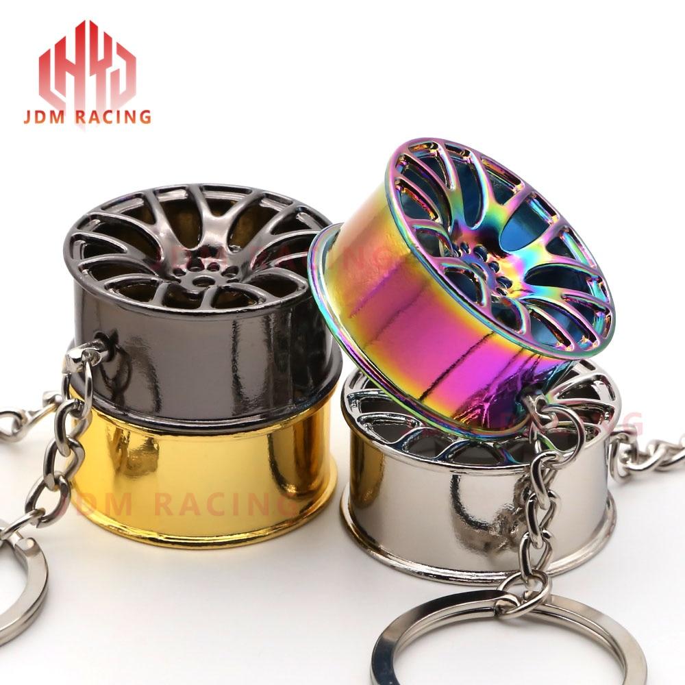 Hot Keychain Turbo Hub Car Keyring Wheel Rim Model Key Chain Keychain Wheel Tire Styling Auto Car Key Chain Keyring For BMW