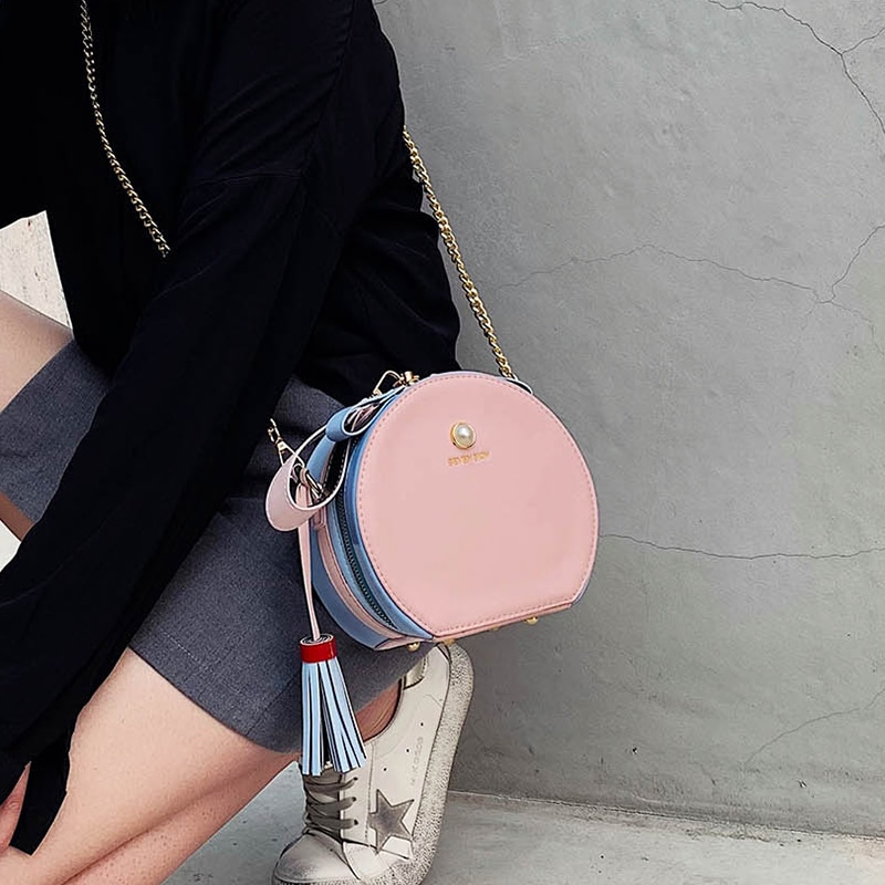 Nuevo pequeño bolso femenino de gama alta 2020 nuevo pequeño bolso redondo moda pañuelo bandolera de hombro mini BOLSA