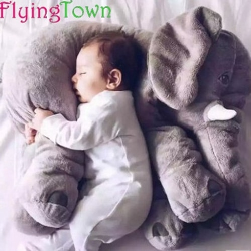 60CM Placarders pillow Large Plush Elephant Toy Kids Sleeping Back Cushion Elephant Doll Baby Doll Birthday Gift Holiday Gift