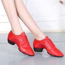 2021 Leather and Mesh Latin Dance Shoes for Women Men Ballroom Modern Dance Shoes Ladies Aerobics Sn