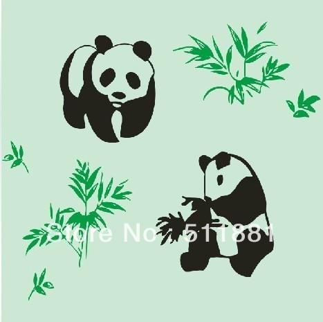 [Panda pattern] NCCTEC Wallpaper paint printing mold FREE shipping   Printing backdrop mold double color