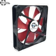 SXDOOL haute qualité meilleur silencieux 140mm pc boîtier ventilateurs de refroidissement 14cm DC 12V 4D prise ordinateur refroidisseurs