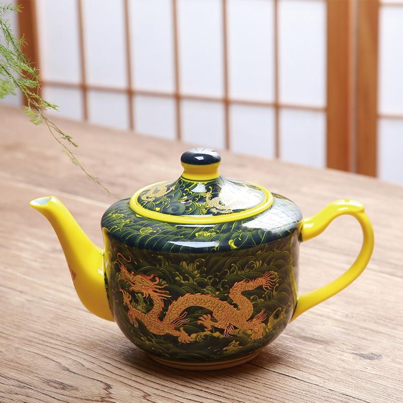 Tetera de cerámica, tetera para el hogar, tetera de dragón de 770 ml, jarra individual, tetera retro Para restaurante lo109434